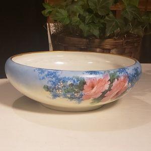 Vintage floral porcelain console bowl